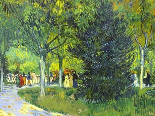 landschaften-gemaelde - Le sentier du parc d'Arles, 1888 - Van Gogh, Vincent