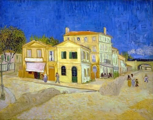 landschaften-gemaelde - Das gelbe Haus, 1888 - Van Gogh, Vincent