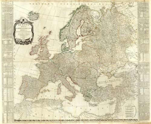 alte-karten-und-zeichnungen - Europa (1787) - Anciennes cartes
