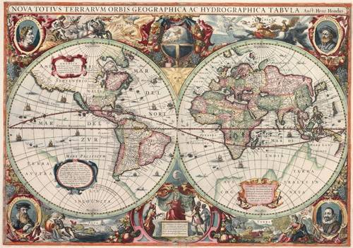 alte-karten-und-zeichnungen - Nova totius Terrarum Orbis geographica ac hydrographica tabula - Anciennes cartes