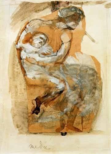 portraetgemaelde - Medea - Rodin, Auguste