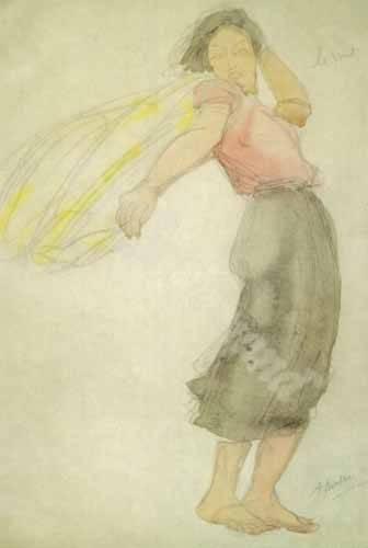 portraetgemaelde - The Wind - Rodin, Auguste