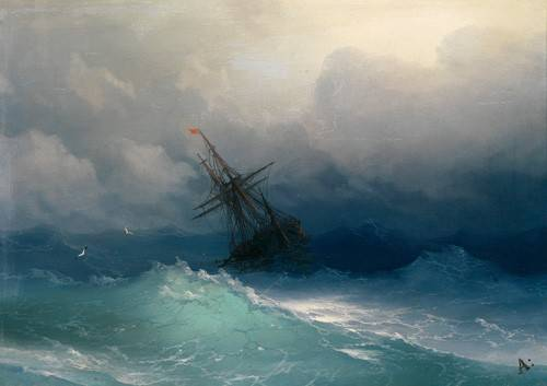 seelandschaft - Schiff auf stürmischer See - Aivazovsky, Ivan Konstantinovich