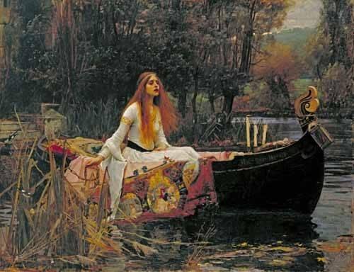 portraetgemaelde - The Lady of Shallott, 1888 - Waterhouse, John William
