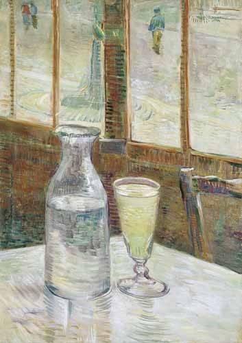 stillleben-gemaelde - Kaffeetisch mit Absinth, 1887 - Van Gogh, Vincent