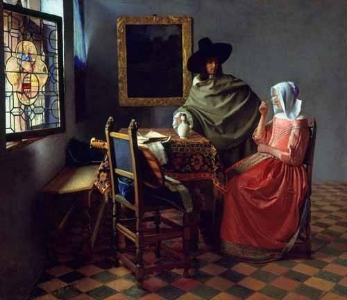 portraetgemaelde - Le Verre de vin - Vermeer, Johannes