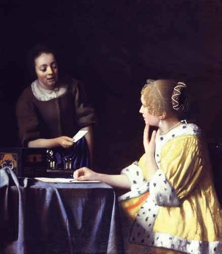 portraetgemaelde - La Maîtresse et la Servante, 1666-1667 - Vermeer, Johannes
