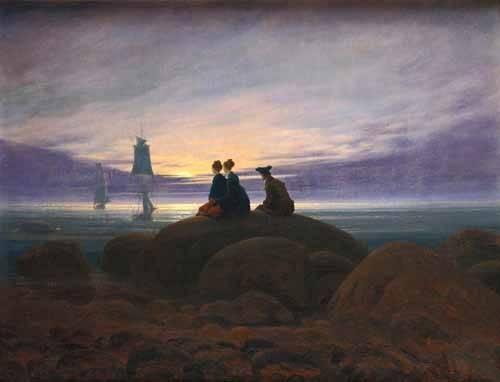 seelandschaft - Mondaufgang am Meer, 1822 - Friedrich, Caspar David