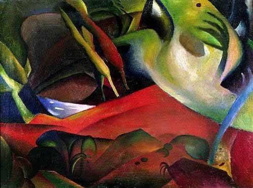 abstrakte-gemaelde - The storm, 1911 - Macke, August