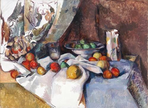 stillleben-gemaelde - Nature morte aux pommes, 1895-1898 - Cezanne, Paul