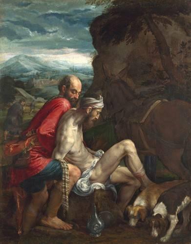 religioese-gemaelde - El Buen Samaritano (The Good Samaritan) - Bassano, Jacopo da Ponte