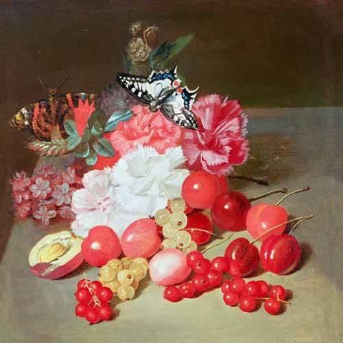 stillleben-gemaelde - Bodegon con cerezas y uvas - Boilly, Louis Leopold