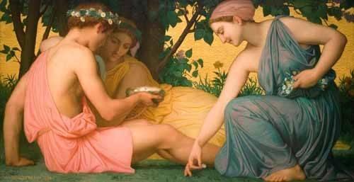 portraetgemaelde - La primavera (Le printemps), 1858 - Bouguereau, William