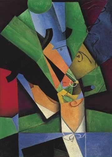 abstrakte-gemaelde - Der Raucher, 1913 - Gris, Juan
