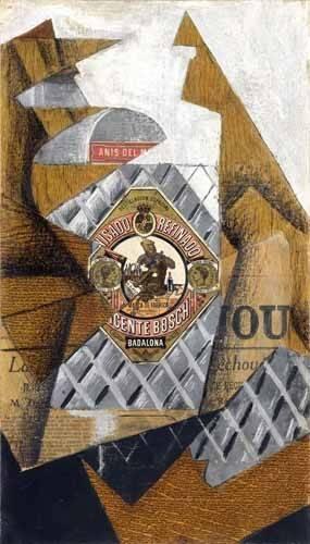 stillleben-gemaelde - Die Anisflasche - Gris, Juan