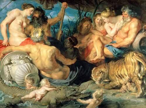 portraetgemaelde - Los Cuatro Continentes - Rubens, Peter Paulus