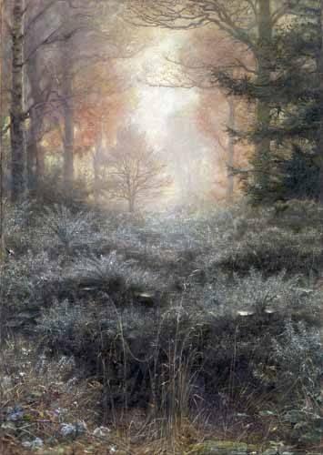 landschaften-gemaelde - Dew-Drenched Furze - Millais, John Everett