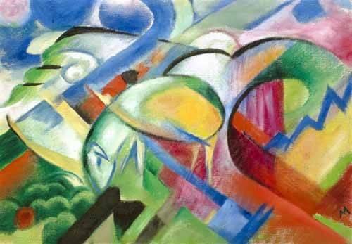 abstrakte-gemaelde - das Schaf - Marc, Franz