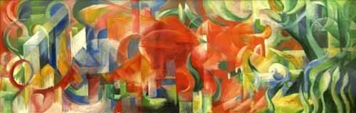 abstrakte-gemaelde - Spielende Formen, 1914 - Marc, Franz