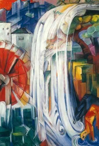 landschaften-gemaelde - Le moulin ensorcelé, 1913 - Marc, Franz