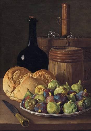 stillleben-gemaelde - Bodegon con higos y pan, 1770 - Melendez, Luis