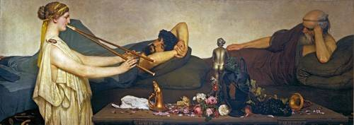 portraetgemaelde - Pompejanische Szene oder Die Siesta - Alma-Tadema, Lawrence