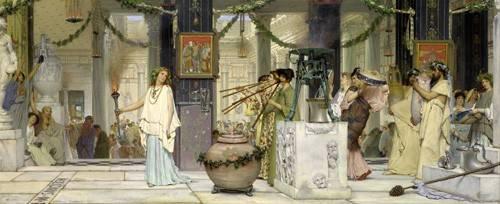 portraetgemaelde - Das Vintage Festival, 1871 - Alma-Tadema, Lawrence