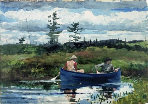 alte-karten-und-zeichnungen - The Blue Boat, 1892 - Homer, Winslow