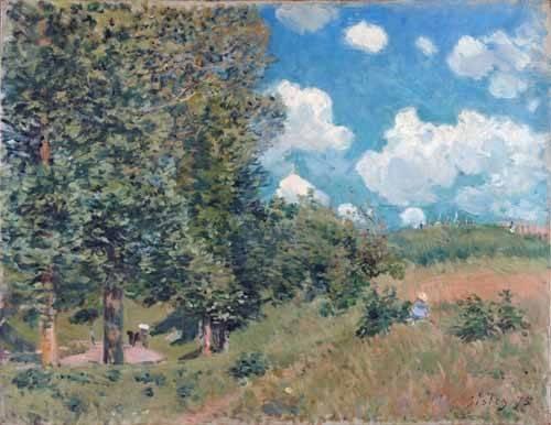 landschaften-gemaelde - The Road from Versailles to Saint-Germain, 1875 - Sisley, Alfred