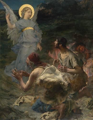 religioese-gemaelde - L'annonciation aux bergers, 1875 - Bastien Lepage, Jules