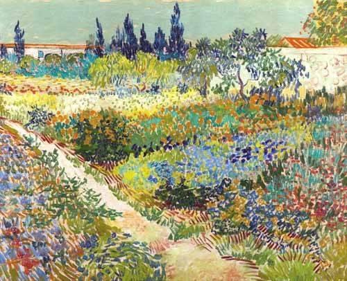 landschaften-gemaelde - Garten in Arles, 1888 - Van Gogh, Vincent