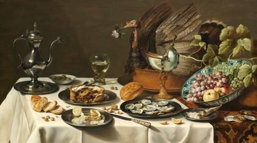 stillleben-gemaelde - Bodegon con pastel turco, 1627 - Heda, Willem Claesz
