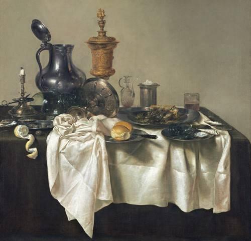 stillleben-gemaelde - Banquet Piece with Mince Pie, 1635 - Heda, Willem Claesz