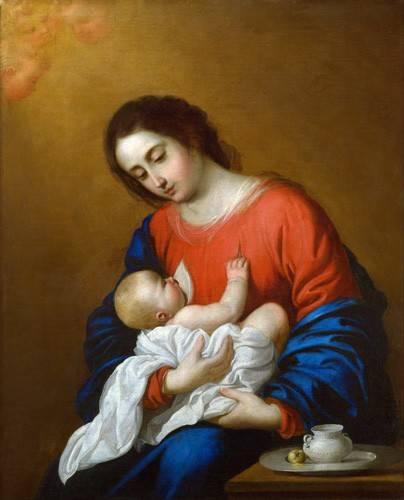 religioese-gemaelde - La Virgen y El Niño, 1658 - Zurbaran, Francisco de