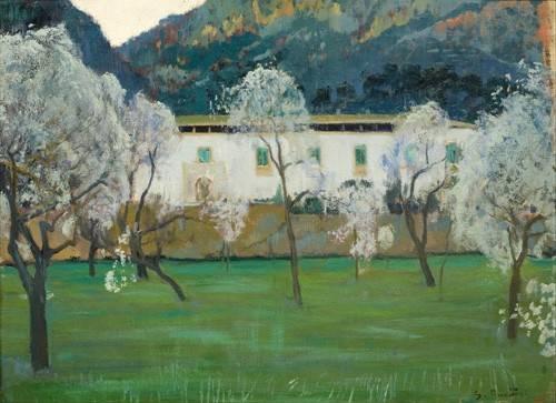 landschaften-gemaelde - La Granja Blanca en Bunyola, Majorca, 1902 - Rusiñol, Santiago