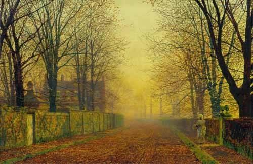 landschaften-gemaelde - Evening_Glow, 1888 - Grimshaw, John Atkinson