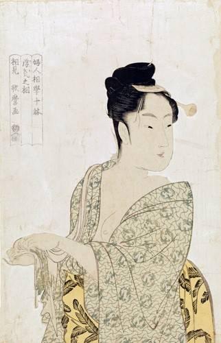 orientalische-gemaelde - Ten physiognomic types of women, Coquettish type- geisha - Utamaro, Kitagawa