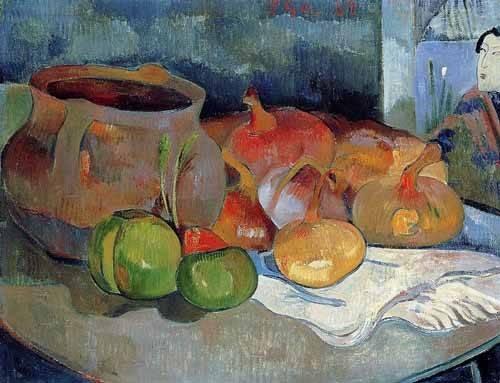 bilder-fuer-ein-esszimmer - Bodegón con cebollas y remolacha - Gauguin, Paul