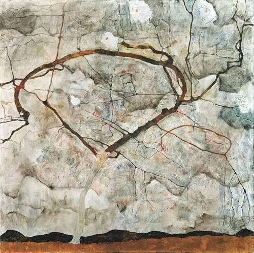 abstrakte-gemaelde - Autumn Tree in Stirred Air (Winter Tree), 1912 - Schiele, Egon