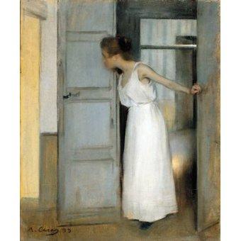 Porträtgemälde - Over My Dead Body, 1893 - Casas i Carbó, Ramón
