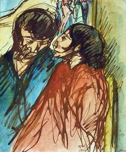 portraetgemaelde - Gypsy Couple, 1904 - Nonell y Monturiol, Isidre