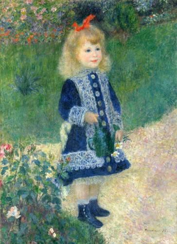 portraetgemaelde - Une fille avec un arrosoir, 1881 - Renoir, Pierre Auguste