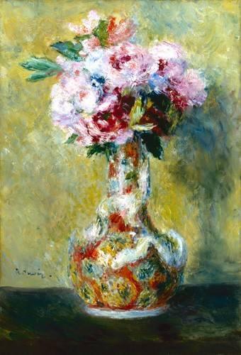 blumen-und-pflanzen - Bouquet dans un vase - Renoir, Pierre Auguste