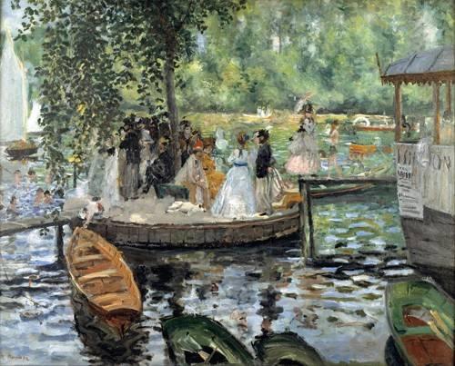 landschaften-gemaelde - La Grenouillère, 1869 - Renoir, Pierre Auguste