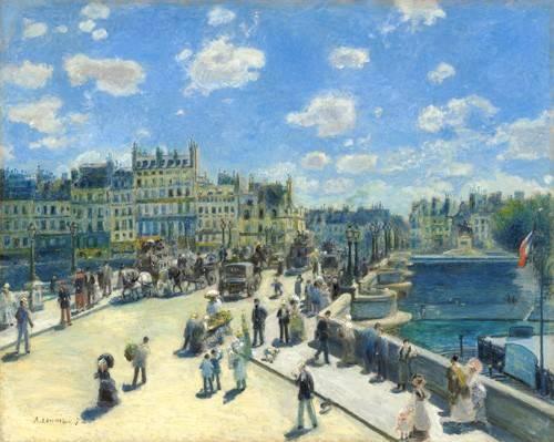 landschaften-gemaelde - Pont Neuf, Paris, 1872 - Renoir, Pierre Auguste