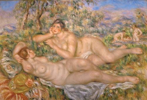 kuenstlerische-aktbilder - Les baigneurs - Renoir, Pierre Auguste