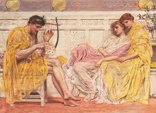 portraetgemaelde - A Musician - Moore, Albert Joseph