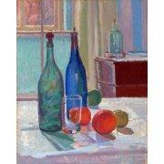 Bouteilles Bleues et Vertes et Oranges, 1914