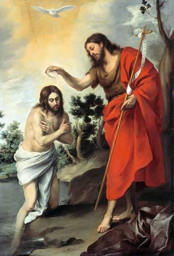 religioese-gemaelde - Bautismo de Cristo, 1655 - Murillo, Bartolome Esteban
