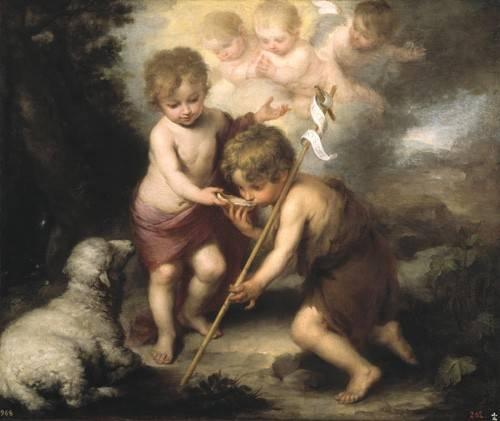 religioese-gemaelde - Los niños de la concha - Murillo, Bartolome Esteban